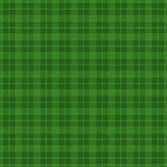 Green checkered seamless pattern background. Vector illustration
