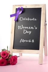 International Womens Day Notice Board Greeting.