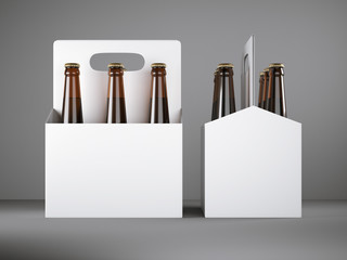 White blank beer packaging