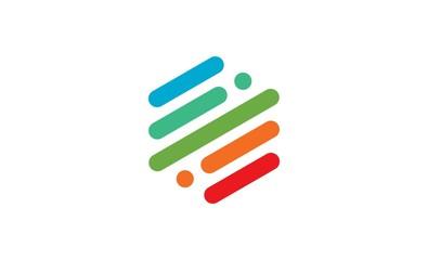stripe colorful line logo