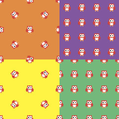 Seamless pattern with owl.