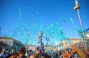 Printed roller blinds Nice carnaval de Nice