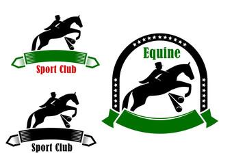 Sporting emblems of equestrian club