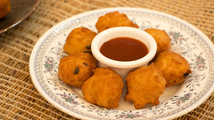 Goli baje or mangalore bonda is one of the popular snack in sout