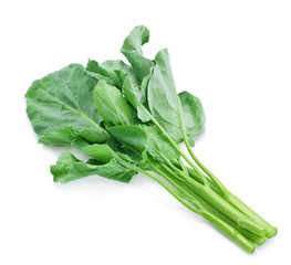Chinese Kale on white background