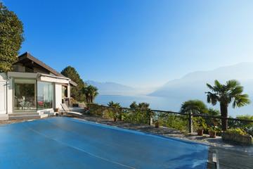 Terrace of a mountain home