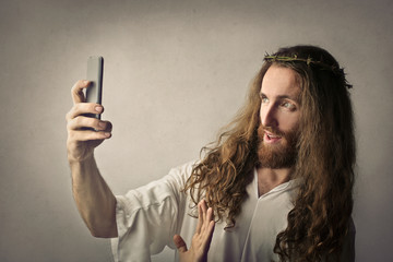 Jesus doing a selfie