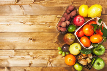 Market fruit background