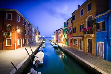 Sunset on Burano, Venice