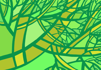 Stylized abstract green tree.