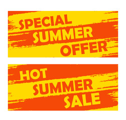 summer special offer and hot sale, drawn banners