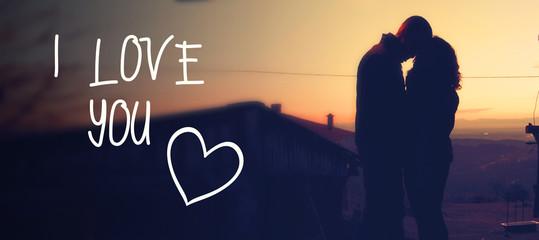 Romantisches Hintergrundbild mit