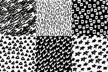 Vector seamless wallpaper pattern background. Hand drawn abstrac