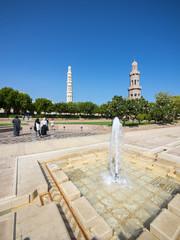 Große Sultan-Qabus-Moschee,  eines der wichtigsten Bauwerke des Landes, eine der weltweit größten Moscheen, Muscat, Maskat, Sultanat Oman, Golfstatt, Arabische Halbinsel, Naher Osten, Asien