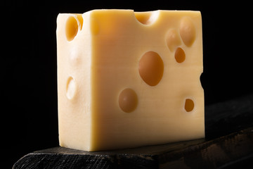 Piece of emmental cheese