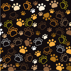 seamless pattern Animal paws