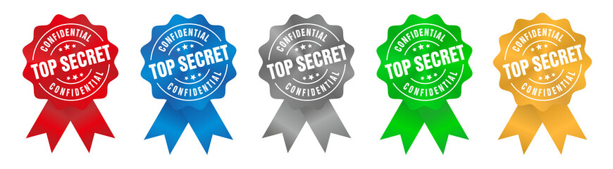 Vector Top Secret Confidential Badge Ribbon