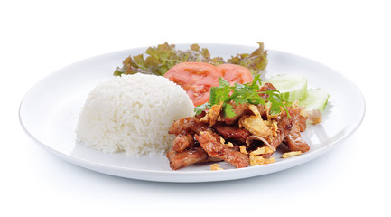 Fried Pork with Rice