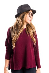 Hipster young girl looking lateral