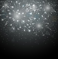 Beautiful fireworks on night background