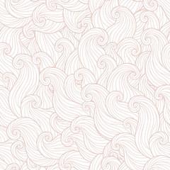 Hand drawn seamless wave  background.