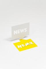 ニュース(NEWS)のイメージ(黄色・文字入り)