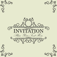 vintage and antique greeting card  invitation with beautiful lux