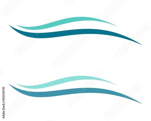 ac4b64914188 Blue Wave Swoosh Water Logo Template