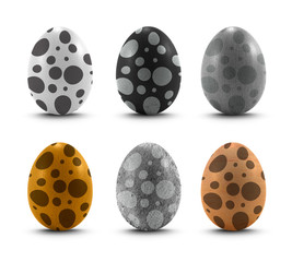 egg dot pattern set