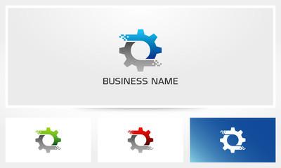 Digital Gear Pixel Logo