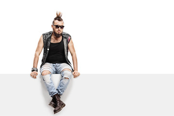 Young punk rocker with a Mohawk hairstyle