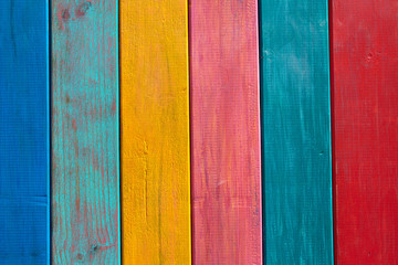 Colorful mexican stripes painted wood texture Wall mural