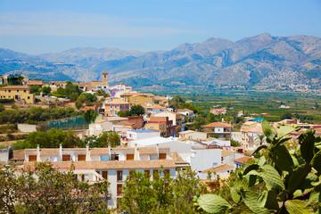 Benidoleig village in Alicante Spain