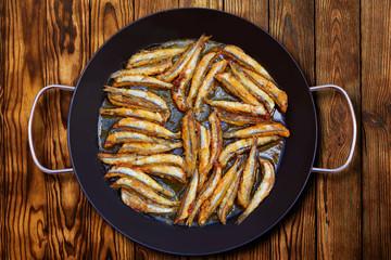 Boquerones fritos Mediterranean fried anchovies
