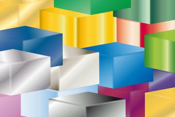 Fototapeta Hintergrund - Würfel - 3D - Bunt obraz