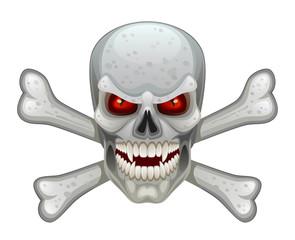Evil skull cross bone