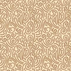 Floral textile wallpaper seamless pattern
