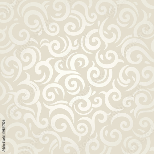 Wedding Vintage Wallpaper Design White Gold Vector