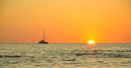 Sunset at Nang Thong beach