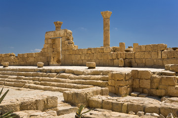 Jordan. Mount Nebo. Remains of the Byzantine basilica (explorations)