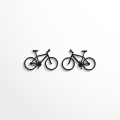 Sports sign. Cycling. Vector icon.