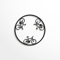 Sport signs. Ring cycling race. Vector icon.