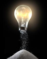 Light bulb and salt shaker