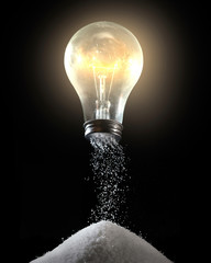 Wall Murals Spices Light bulb and salt shaker
