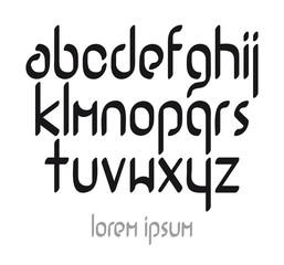 Modern vector calligraphic font