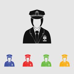 England Policeman Vector icon