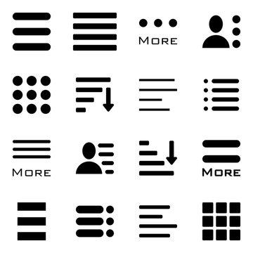 Hamburger Menu Icons Set.