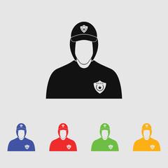 Police cadet Vector icon