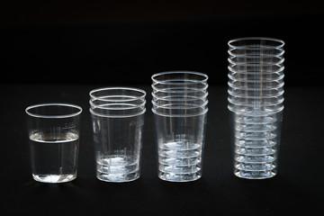 Transparent plastic cup