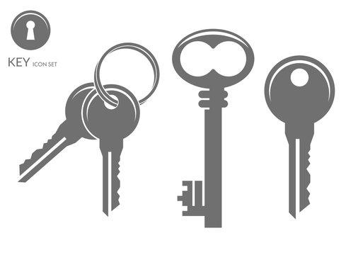 Key. Icon set